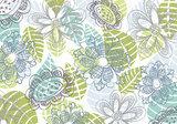 Getekend bloemmotief fotobehang