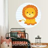 Kinderkamer behang cirkel Leeuw