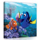 Finding Nemo canvas schilderij 40 x 40 cm
