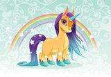 Unicorn Pony behang Rainbow