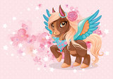 Flying Pony behang Rosie