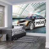 Politieauto fotobehang Police