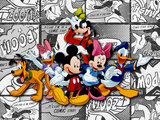 Mickey Mouse fotobehang Stripboek