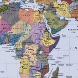 Wereldkaart fotobehang staatkundig