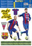 Barcelona muurstickers 5 topspelers