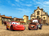 Cars vlies fotobehang McQueen en Takel XL