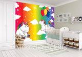 Behang Kinderkamer Regenboog : Eenhoorn fotobehang regenboog muurdeco4kids
