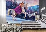 Eenhoorn behang Fairy