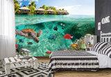 onderwater behang schildpad