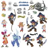 Jake en de Nooitgedachtland piraten muurstickers