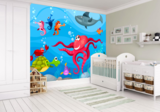 Onderwater behang kinderkamer