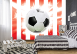 Voetbal fotobehang Rood Wit_