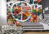 Hippie graffiti fotobehang peace teken