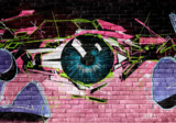 Graffiti behang Eye