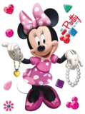 Minnie Mouse muursticker Roze XL
