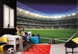 Voetbal stadion vlies behang 416