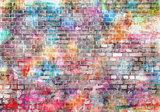 Gekleurde stenen muur fotobehang