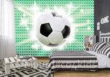 Voetbal fotobehang Groen