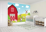 Boerderij behang babykamer