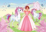 Princess fotobehang Unicorns