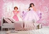 Prinsessen vlies behang Roze