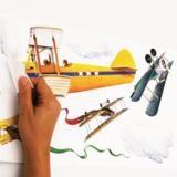 Vliegtuig muurstickers Vintage Planes