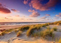Strand fotobehang Mooie Lucht