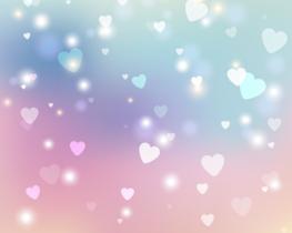 Hartjes vliesbehang Sweet Hearts L