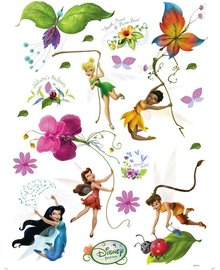 Disney Fairies muurstickers XL Elfjes/bloemen