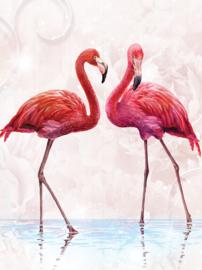 Flamingo behang zachtroze L1