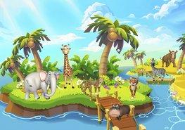 Jungle behang Dieren Safari