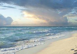 Strand fotobehang Golven