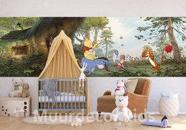Winnie the Pooh fotobehang - Pooh's huis