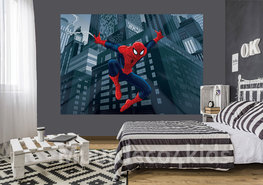 Spiderman fotobehang Swing L