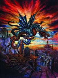 Alchemy Highgate Horror Dragon behang
