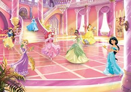 Disney Princess behang Glitterparty