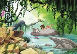 Jungle Book fotobehang Swimming