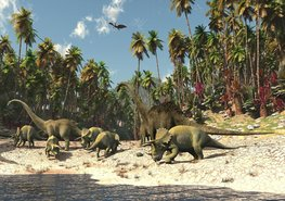 Dinosaurus fotobehang - Vlies XL