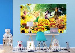 Disney Fairies fotobehang Zonnebloemen V2