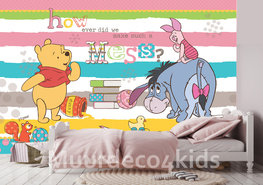 Winnie the Pooh behang Strepen XL