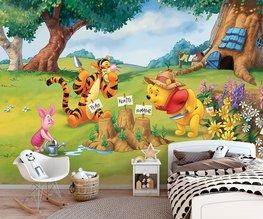Winnie the Pooh behang Tuin V3