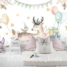 Hertje Kinderkamer behang Party