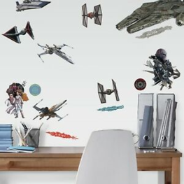 Star Wars IX muurstickers Galactic Ships