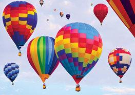 Kleurige Luchtballonnen fotobehang