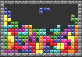 Tetris Game fotobehang