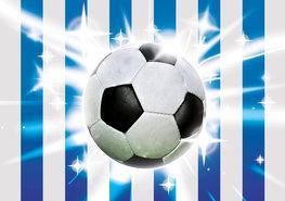 Voetbal behang Blauw Wit