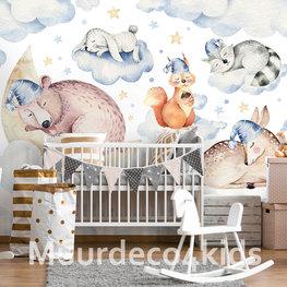 Dieren behang Sleeping Animals I