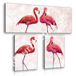 Flamingo canvas set