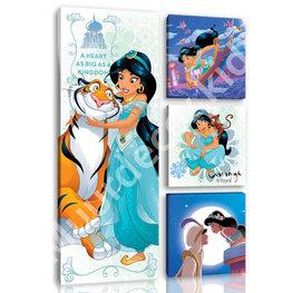 Disney Princess Jasmine canvas set 4-dl