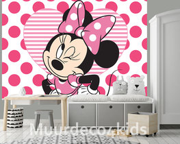 Minnie Mouse fotobehang Knipoog